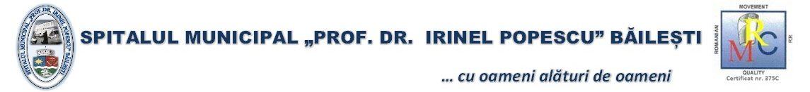 """Spitalul Municipal """"Prof.Dr. Irinel Popescu"""" Băilești"""